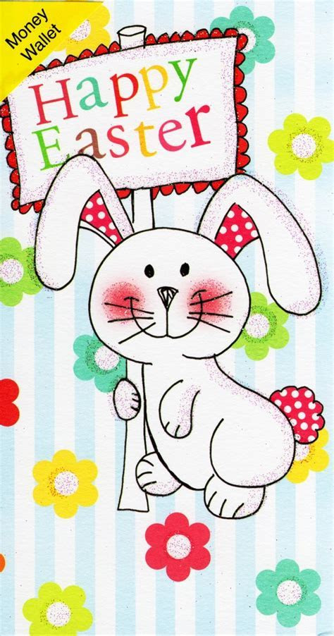 Happy Easter Money Wallet Cute Bunny Gift Card   Cards