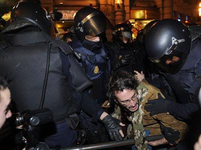 Se han producido varias cargas cuando los manifestantes han llegado al Congreso - AFP