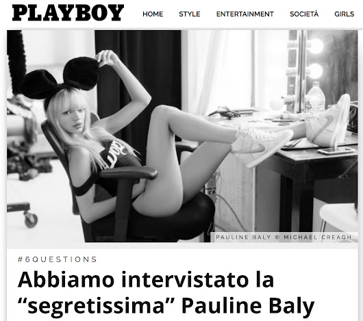 Pauline Baly for Playboy Italia