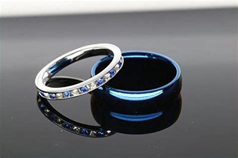 Amazon.com: His and Hers 925 Sterling Silver Blue Saphire