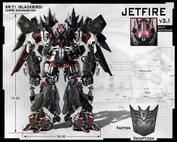 Fan art depicting Jetfire...a Decepticon-turned-Autobot who will be featured in TRANSFORMERS: REVENGE OF THE FALLEN.
