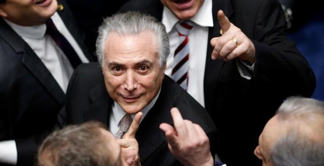 Michel Temer, tras jurar como nuevo presidente de Brasil. - REUTERS