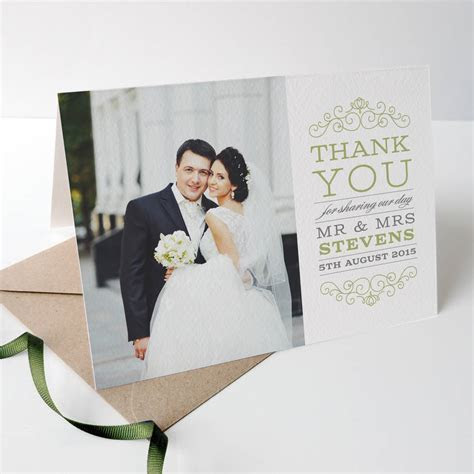 eva wedding photo thank you cards by project pretty