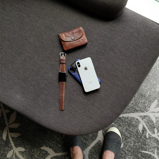 Gearing up trips with SENA Leather iPhone X Case, Apple Watch band and Watch Travel Case
