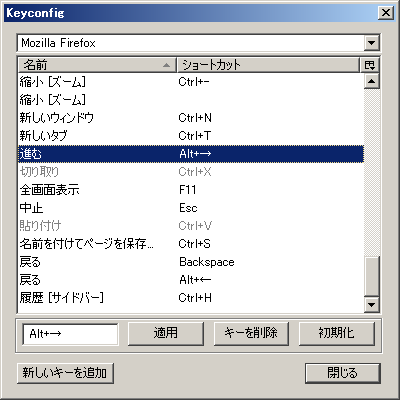 ThinkPad USB Keyboard: Firefox Keyconfig