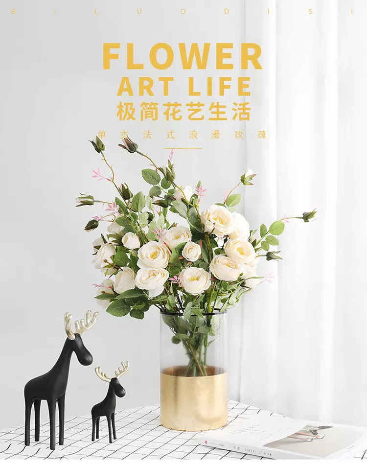 Wholesale 6 Color Single Roses Artificial Silk Flowers Home Decoration Green Plant Wall Artificial Flowers Buy Roses Wedding Lowers Artificial Flowers Product On Alibaba Com