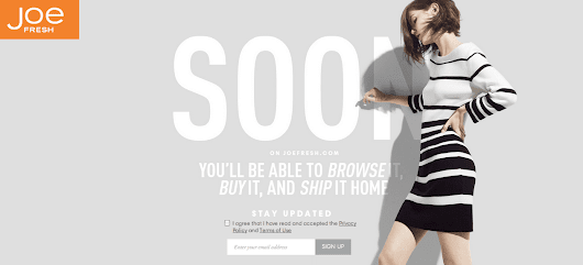 Joe Fresh Launches Online Shopping for Canada - YES!
