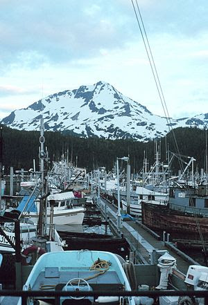 English: Fishing boats docked at at Cordova, A...