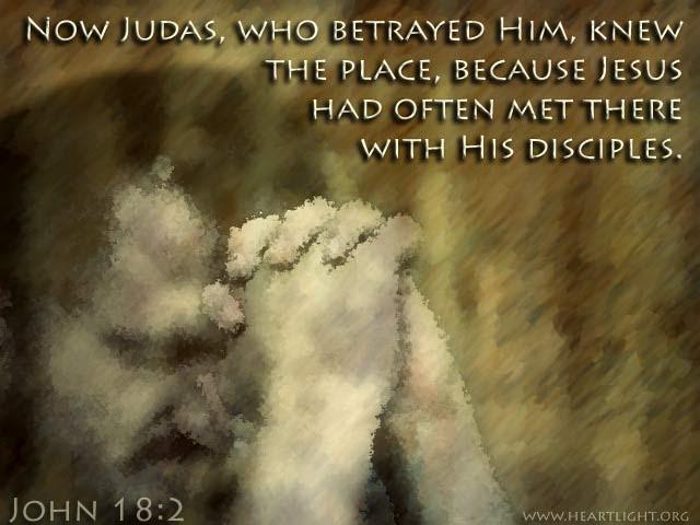 Inspirational illustration of John 18:2