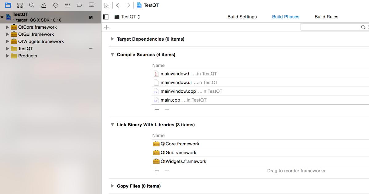 Eugene Chen 的全端之路: Qt Setup With Xcode