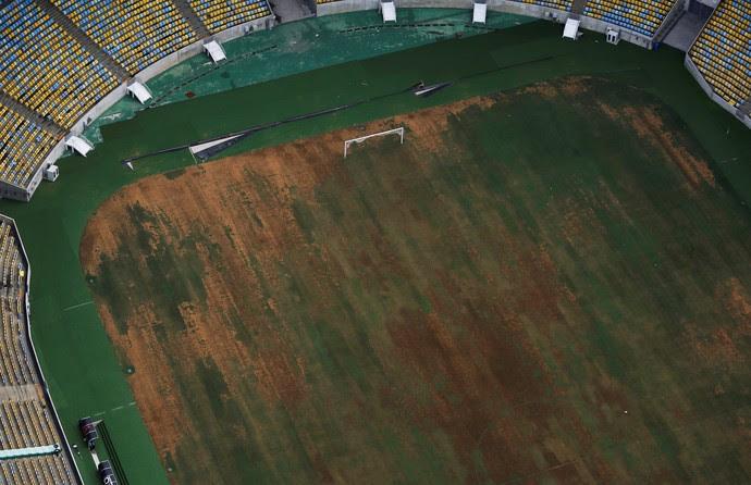 Maracanã gramado 12/01/2017 (Foto: Reuters)