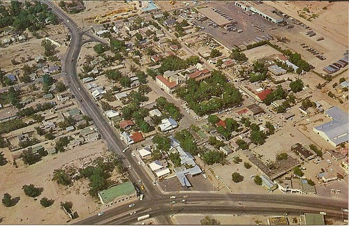 Aerial view of Old Town, 1960s