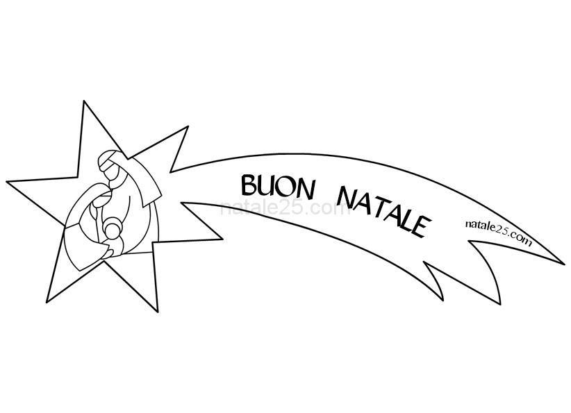 Stella Cometa Con Natività Da Colorare Natale 25