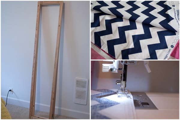 DIY Room Divider | Dressing Screen | Chevron Fabric Project
