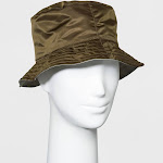 Women's Reversible Rain Bucket Hat - A New Day Light Olive, Green