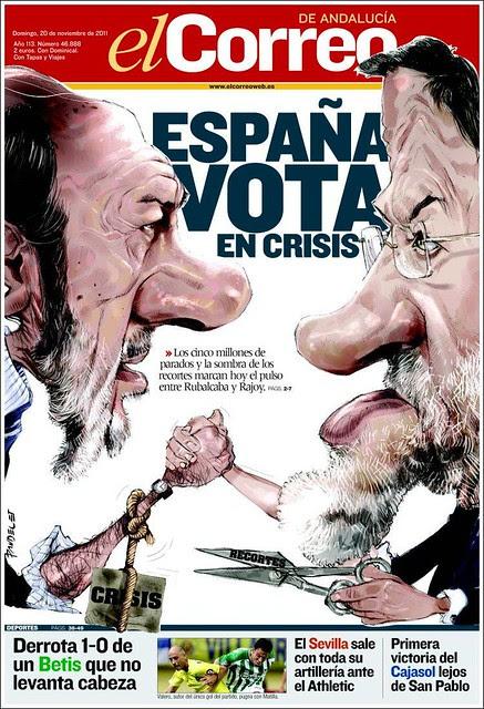 Portada El Correo Andalucía 20N