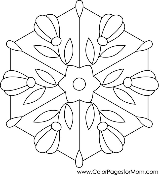 Coloring pages for adults - stained glass coloring page 20