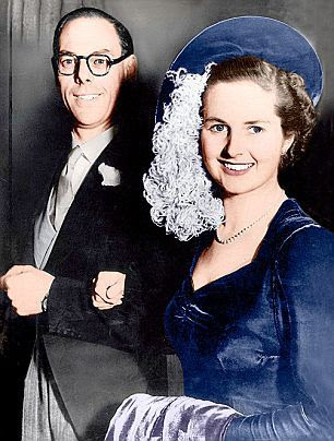 Denis and Margaret Thatcher - Wedding Photo-----married 52 yrs until his death in 2003, she died in 2013.