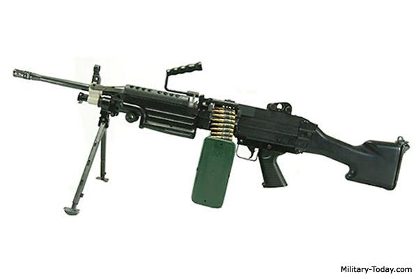 M249 Light Machine Gun   Military-Today.com