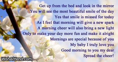 Good Morning Poem For Her Get Up From The Bed