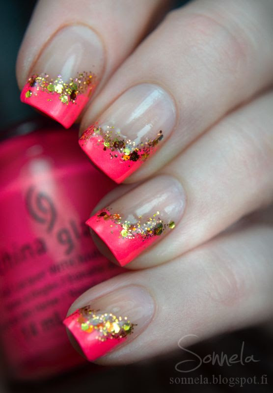 25 Inspirational Nail Art Design Ideas ASHTON: This reminds me like how Katniss Everdeen would paint her nails. I love it! #girlonfire