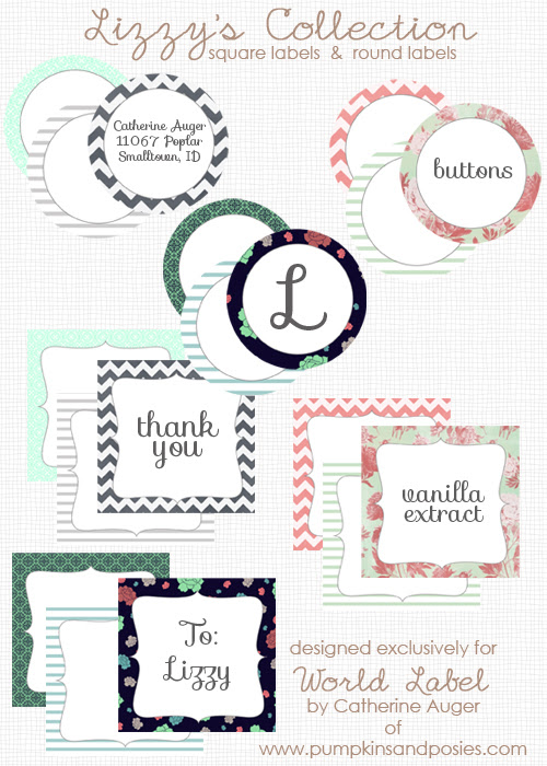 Round & Square Labels from Lizzy
