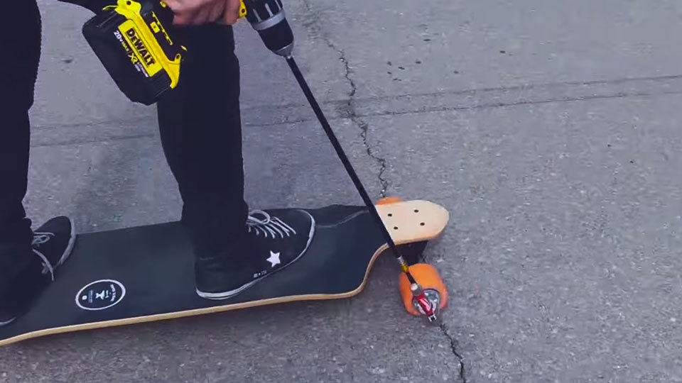 DIY Drillpowered Skateboard Left Us Pretty Much Speechless  MIKESHOUTS