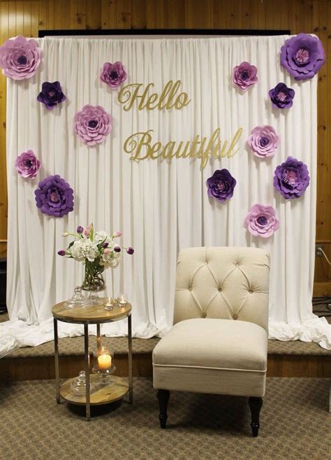 Bridal shower decor, special event decor, purple bridal