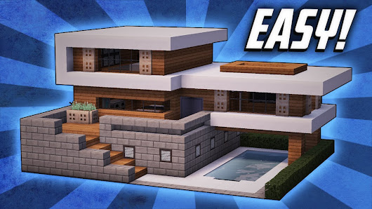 Watch an architect build a beautiful house in Minecraft