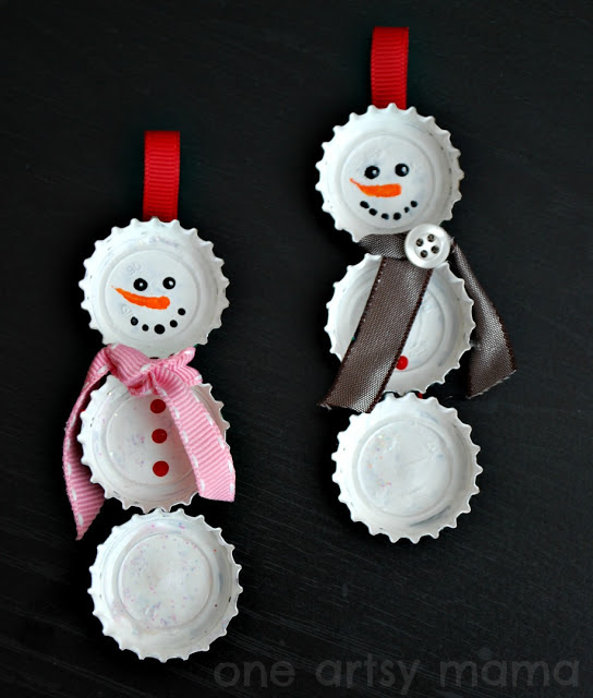 Cool DIY Snowman Christmas Ornament To Make With Your Kid  Kidsomania