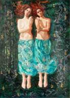 Εργα από τη Janet Α. Cook την exhibtion σε Dacia Gallery στη Νέα Υόρκη, μέσω της 11ης Μαΐου