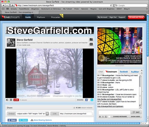 Livestream Boston Snow 12/20/09