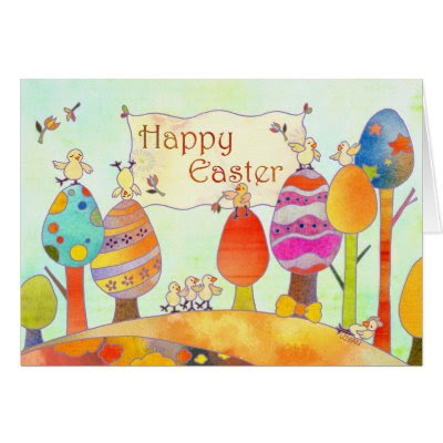 Little Chicks in Easter Land - Fun Easter Greeting Card