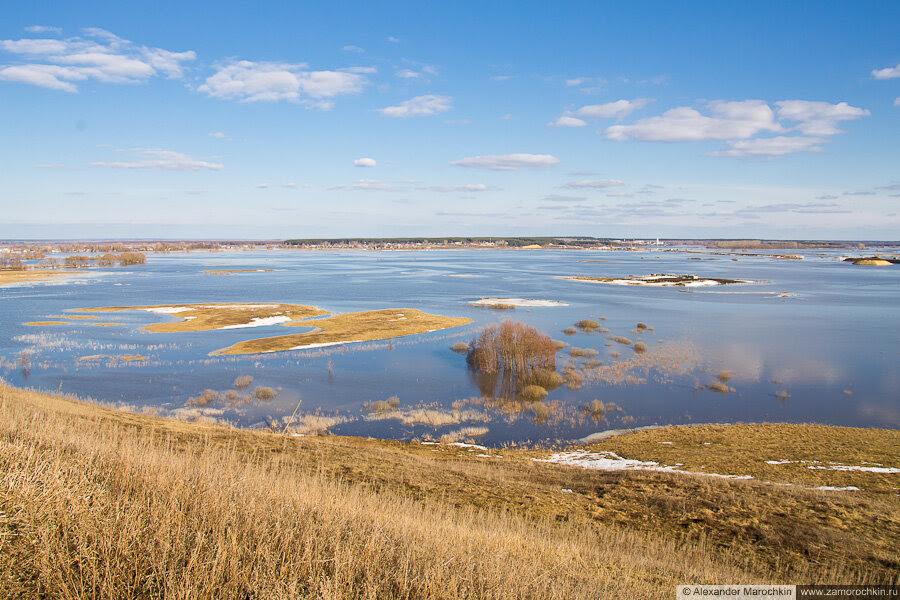 Разлив Мокши у Краснослободска