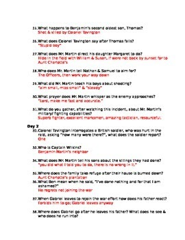 The Patriot Movie Questions Answer Key : patriot, movie, questions, answer, Patriot, Movie, Worksheet, Answer, Resource, Plans