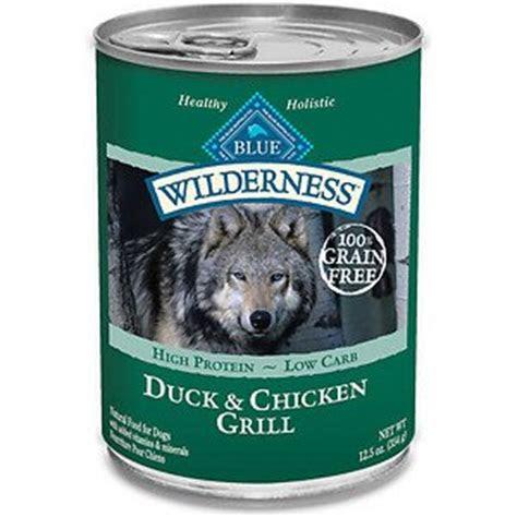 blue buffalo wilderness duck chicken grill canned dog