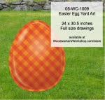 Easter Egg Yard Art Woodworking Pattern - fee plans from WoodworkersWorkshop® Online Store - cross hatch,orange,easter eggs,yard art,painting wood crafts,scrollsawing patterns,drawings,plywood,plywoodworking plans,woodworkers projects,workshop blueprints