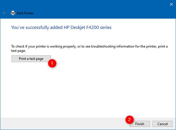 La impresora se ha instalado manualmente en Windows 10