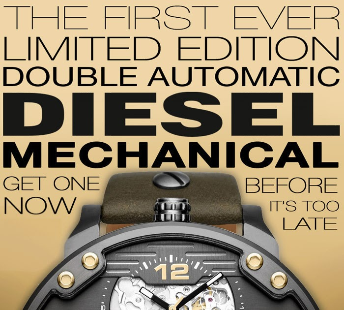 Watchismo Times  Diesel Goes Mechanical! The First Ever Limited Edition  Double Automatic Diesel Watch 289845f12f4