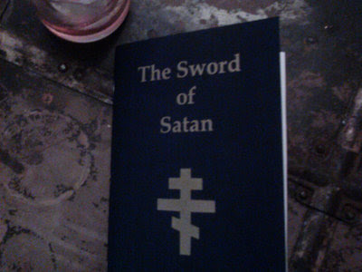 The Sword of Satan, by The Good Alulim, handmade first edition book main photo