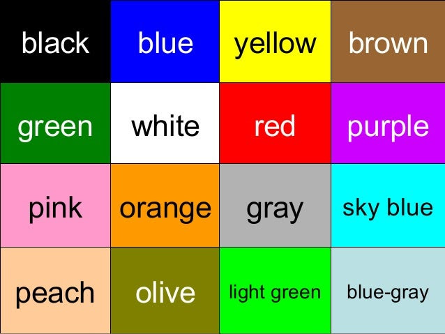 Color guessing game