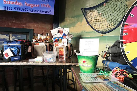 Big Swag Giveaways Are a Success… More Coming Soon! Learn More and See Some Pics… | JerZees Pub and Grub