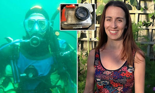 Scuba diver is reunited with the camera she lost three years ago