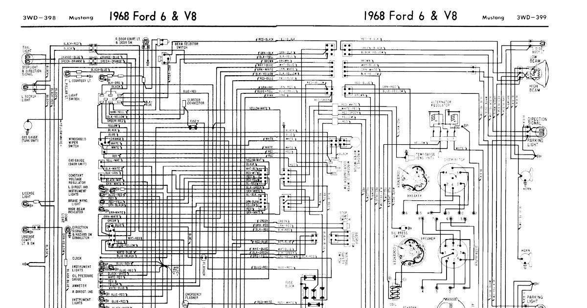 Free 1968 Mustang Wiring Diagrams Evolving Software HD