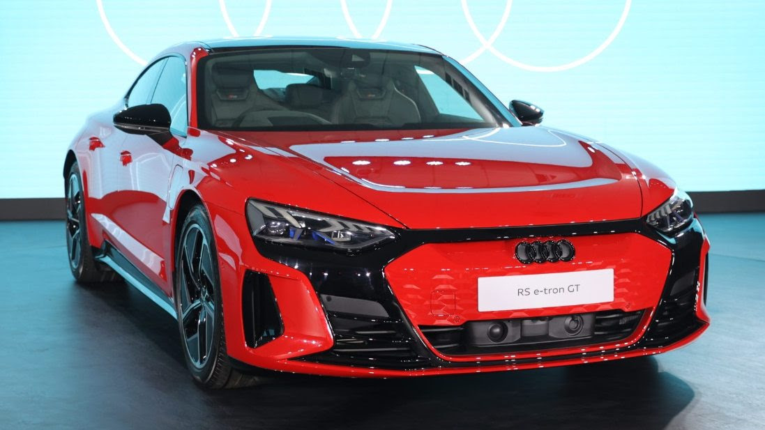 The Audi e-tron GT has a range of up to 500 kilometres on a full charge (WLTP cycle). Image: Audi India