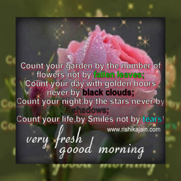 Good Morningcount Your Gardenby The Number Of Flowers Not By