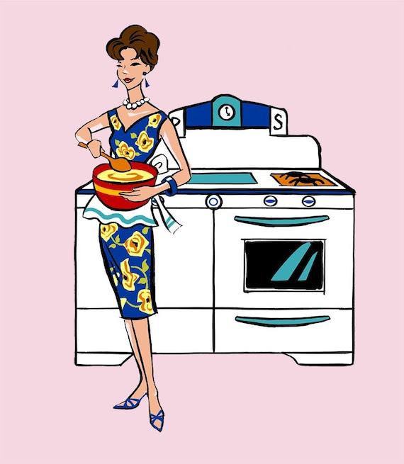 PRINT - Fashionista του 50 (Μαγειρική)