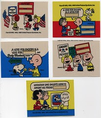 Snoopy for President Bread stickers