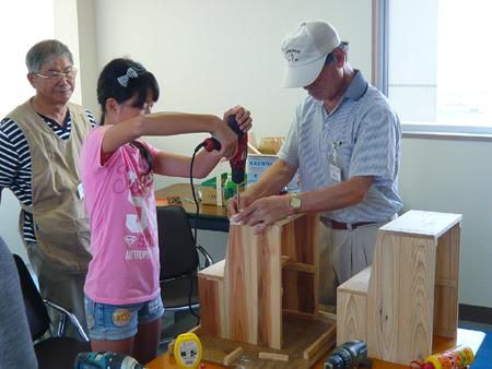 夏休み工作,夏休みイベント,木工教室,三重木工クラブ,松菱百貨店,松菱デパート
