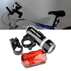 Insten Bicycle Front Head Light and Rear Lamp , 5 LED